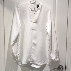 Lord and Taylor White long Blouse
